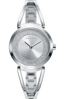 Viceroy Reloj Analógico para Mujer de Cuarzo con Correa en Acero Inoxidable 471150-00