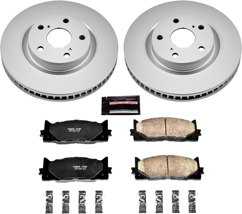 Power Stop CRK8330,Z17 Coated Rotor Rear Brake Kit-Coated Brake Rotors /& Ceramic Brake Pads