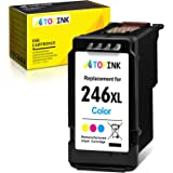 ATOPINK Remanufactured Ink Cartridge Replacement for Canon CL-246XL 246 XL 246XL CL-246 CL-244 (1 Color) Work with Pixma MG30