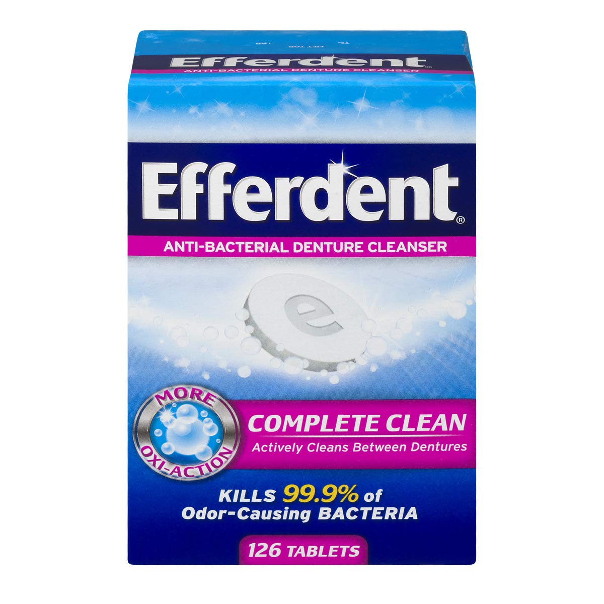 Efferdent Denture Cleanser Tablets, Complete Clean, 126 Tablets: Health & Personal Care