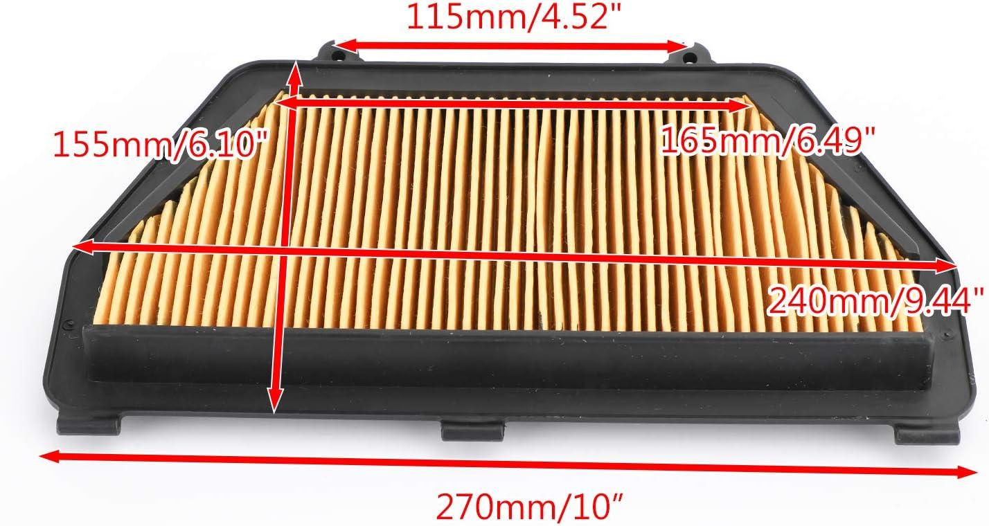 Moto OEM Cartridge Air Cleaner System Air Intake Cleaner Filter for H-O-N-D-A CBR600 CBR600RR CBR600RA 2007-2018 17210-MFJ-D00 Artudatech Motorcycle Air Filter Foam