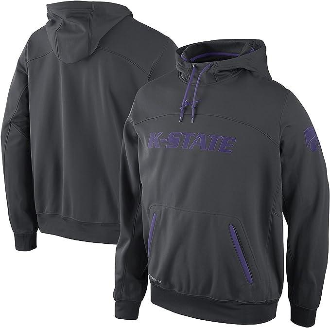 Nike Kansas State Wildcats Elite Therma-fit Sudadera con Capucha de Baloncesto, Antracita: Amazon.es: Deportes y aire libre