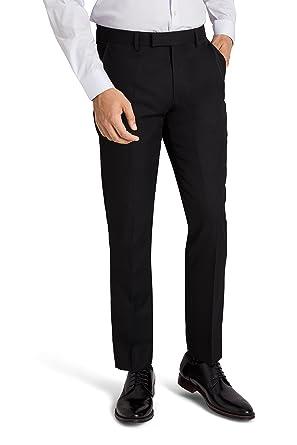 69c2c570aea16a Moss London Men`s Skinny Fit Black Suit Trousers 44S: Amazon.co.uk: Clothing