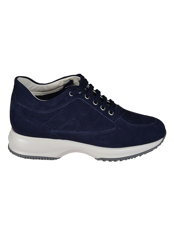 Hogan Sneaker Interactive in camoscio HXW00N00E30A8HU800 Blu Donna  -
