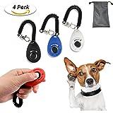 TedGem Klicker 4 Stück Hundetraining Hundeerziehung Klicker mit Handgelenk Band,Klicker für Hunde, Training Klicker, Puppy Training Clickers mit Handgelenkband Clicker