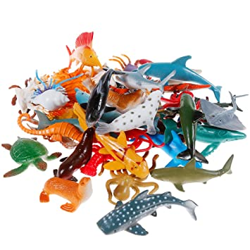 Toys & Hobbies Animals & Dinosaurs Realistic Educational Sea Animal Figures Assorted Sea Animals Toys For Learning Yet Not Vulgar