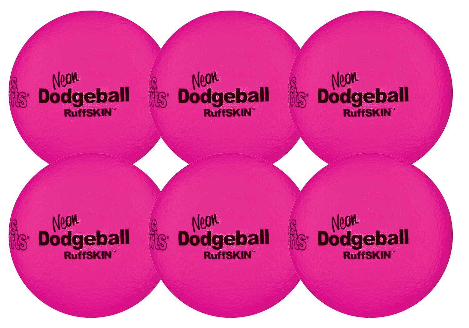 RuffSKIN Neon Pink 6'' Foam Dodgeball by Palos Sports