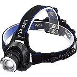Taotuo LED ヘッドランプ ズーム機能付き 高輝度 90度角度調節 IPX4防水 登山 夜釣り