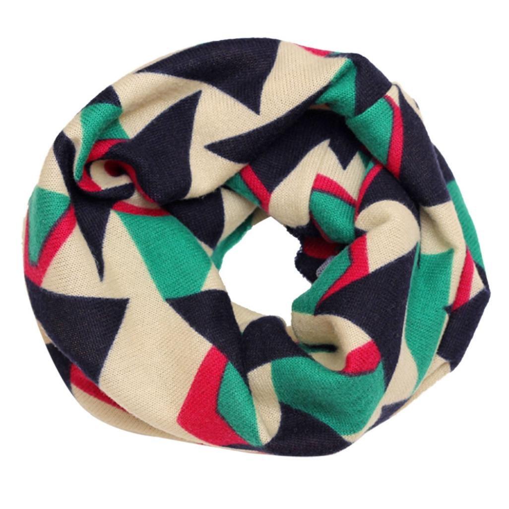 bestpriceam Fashion Multicolor Children Cotton Scarf Kids Winter Warm Neckerchief (Beige)