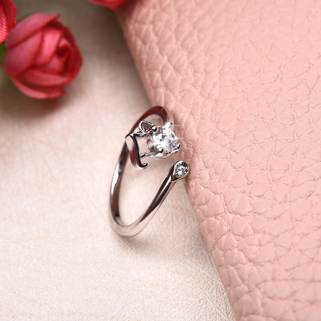 Amazon.com: OBSEDE Elegant Aquarius CZ Ring for Women Special Zodiac ...