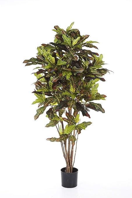 Piante Da Appartamento A Foglia Verde.Artplants De Pianta Croton Artificiale Beqa 336 Foglie Verde