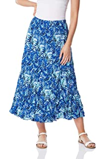"""Ladies New Summer Floral Print Hippy Boho Long Skirts 10 to 24 Size 35/"""" Long"""