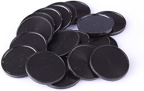 Chip da 1/Euro per carrello per la spesa in 7/colori utilizzabili anche come monete da gioco 100 Pezzi Nero