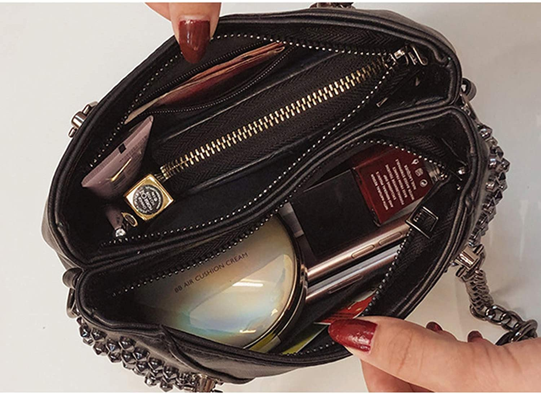 Black Rivet Handbags Crossbody Bags Women New 2019 Luxury Handbags Women Bags Leather Shoulder Bags Vintage Handbags