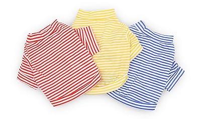 DroolingDog Dog Clothes Pet Striped T-Shirt