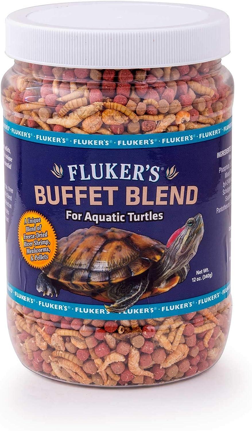 Flukers 70131 Buffet Blend Aquatic Formula Turtle Food, 12Oz
