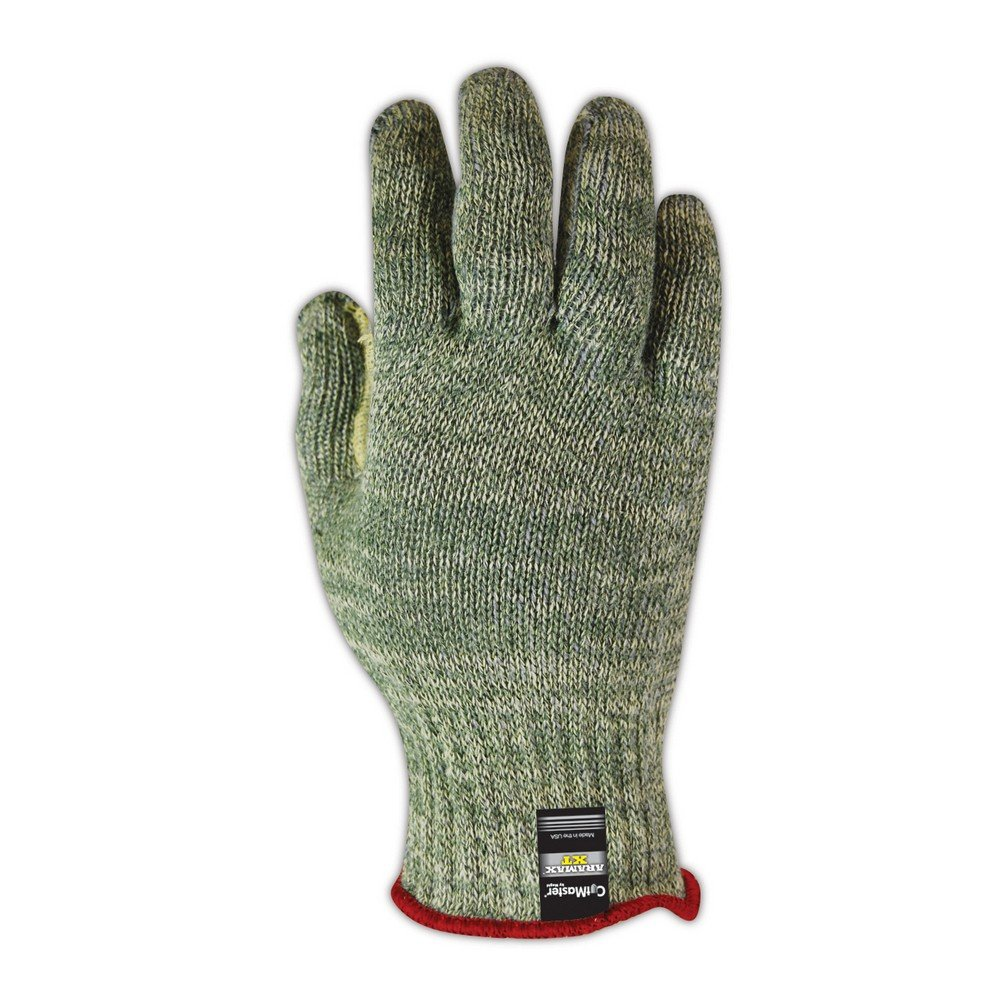 Magid Glove & Safety AX35011 Magid  CutMaster XT AX350 Heavyweight Knit Gloves, Cut Level 5, Aramax Yarn, 11'', Green/Red (Pack of 12) by Magid Glove & Safety