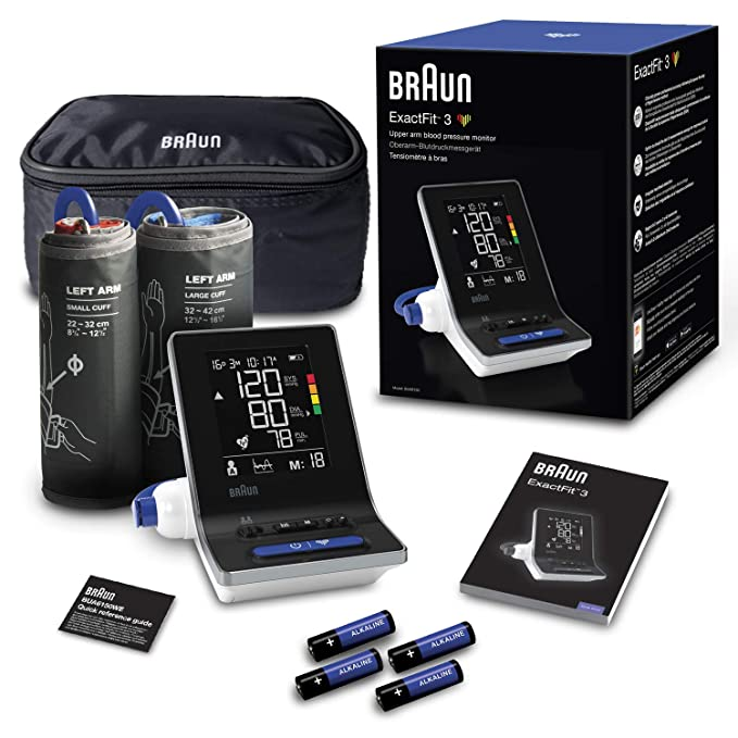 Braun ExactFit 3 - Tensiómetro de brazo para uso doméstico con dos tamaños de manguito: Amazon.es: Salud y cuidado personal