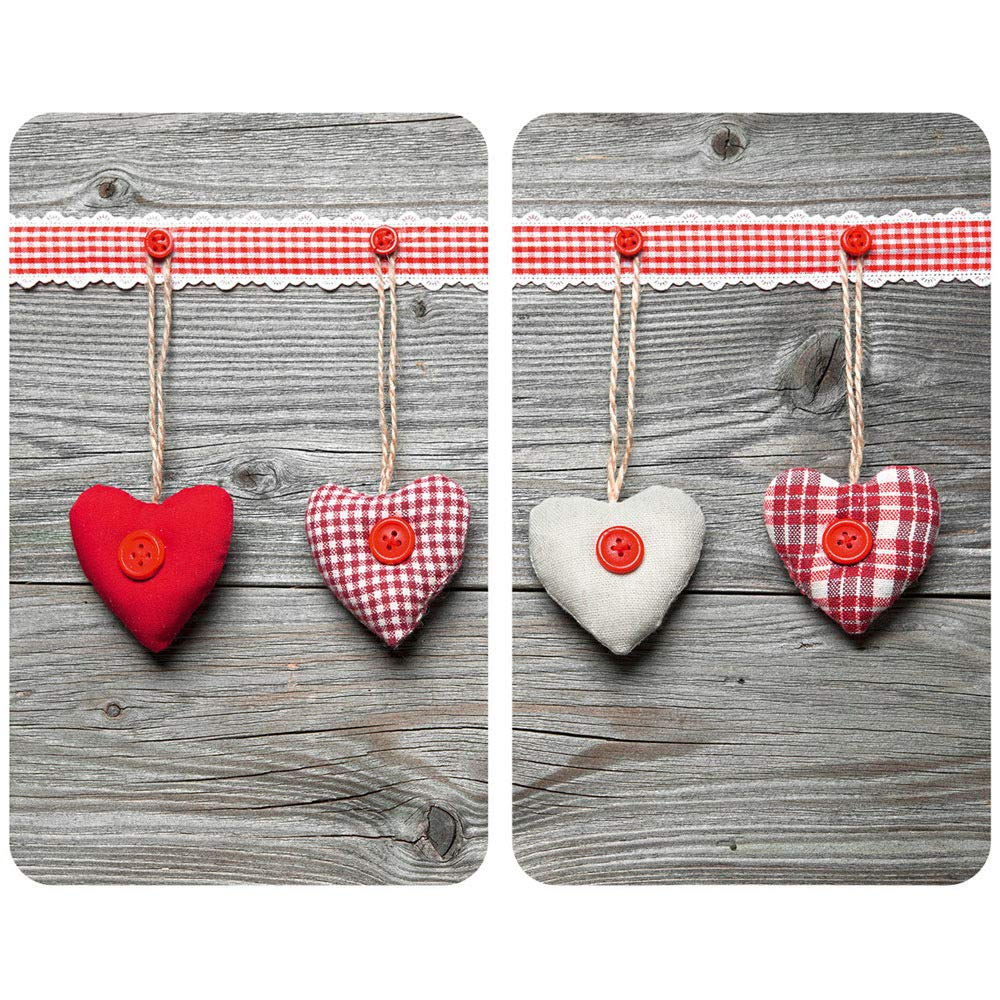 Hearts Hob Cover Set of 2 Wenko