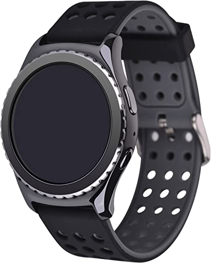 Greatfine Reloj Smart Watch 22mm Silicona Banda de Reloj de la ...