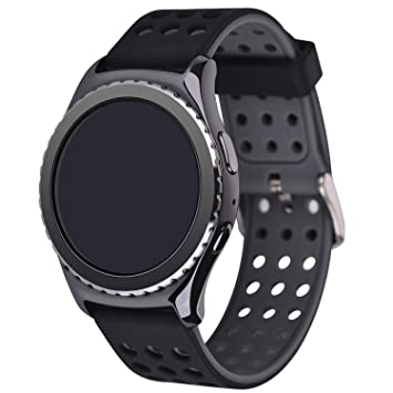 Greatfine Reloj Smart Watch 22mm Silicona Banda de Reloj de la Correa de para Gear 2