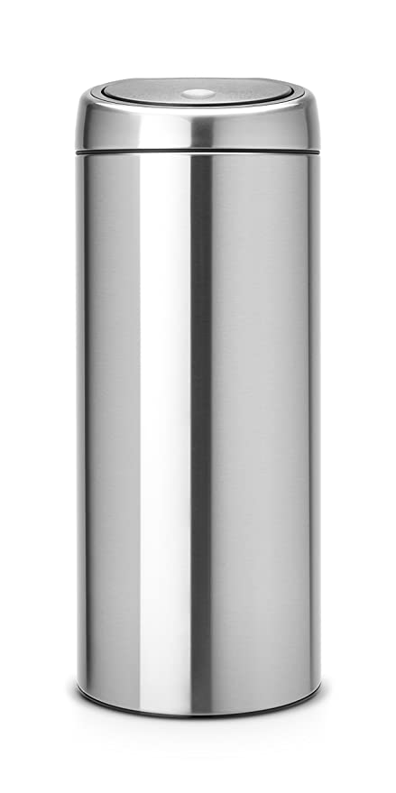 Brabantia Touch Bin 30 L Flat Top.Brabantia Touch Bin 30 L Matt Steel