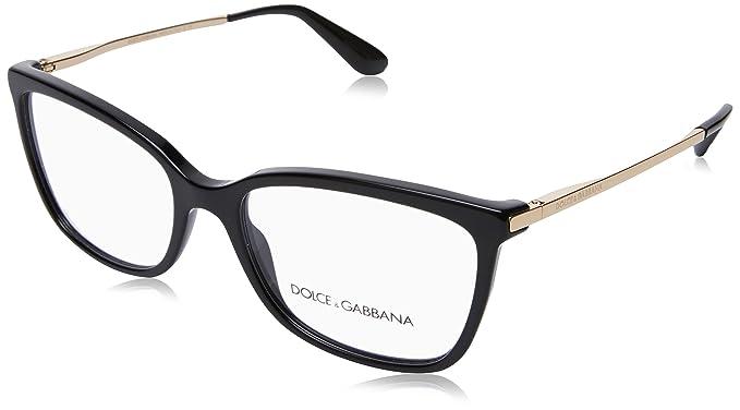 DOLCE & GABBANA Dolce & Gabbana Damen Brille »SICILIAN TASTE DG3218«, schwarz, 501 - schwarz