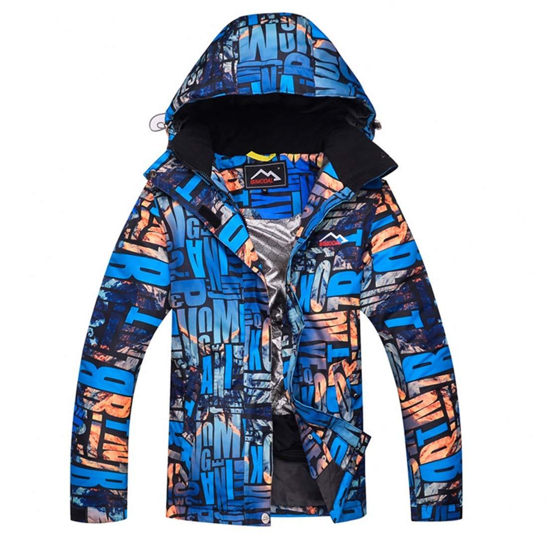 bleu X-grand ArougeOVL Veste de Ski pour Femme, Combinaison de Ski de Montagne, épaisse et Chaude (Couleur   vert, Taille   M)