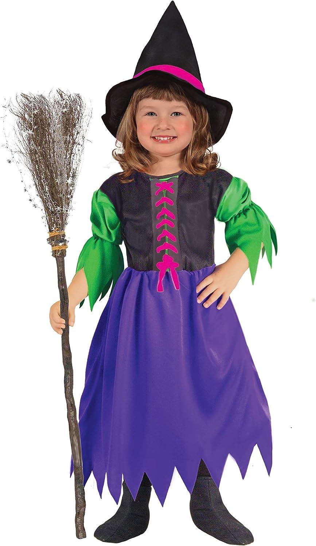 Ciao 61319.3-4.DS - Disfraz de bruja para niña, 3 – 4 años, multicolor