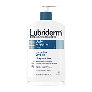 Lubriderm Daily Moisture Lotion Fragrance Free 16 oz (Pack of 5)