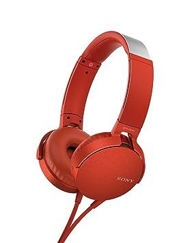 Sony MDRXB550APR Color Rojo Auricular con Control y microfono: Amazon.es: Electrónica