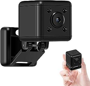 Mini Hidden Camera Small Spy Cam Motion Detection and Loop Recording Tinny Secret Cube Cop Cam for Indoor Outdoor Office Nanny Camera Security Sport Car DV Recorder