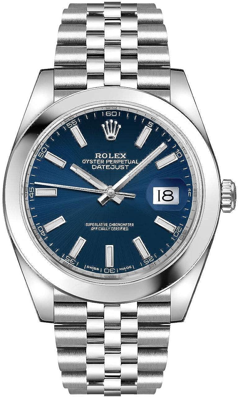 Amazon.com Men\u0027s Rolex Datejust 41 Blue Dial Steel Watch on
