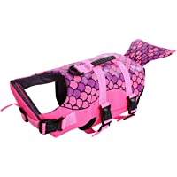 Queenmore Dog Life Jacket Ripstop Dog Safety Vest Adjustable Preserver with High Buoyancy and Durable Rescue Handle for…