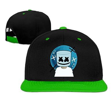988aa591f9e LOVEHOLIC Cool Unisex Marshmello face Snapback Hip-Hop Hat Flat Peaked Baseball  Cap (5