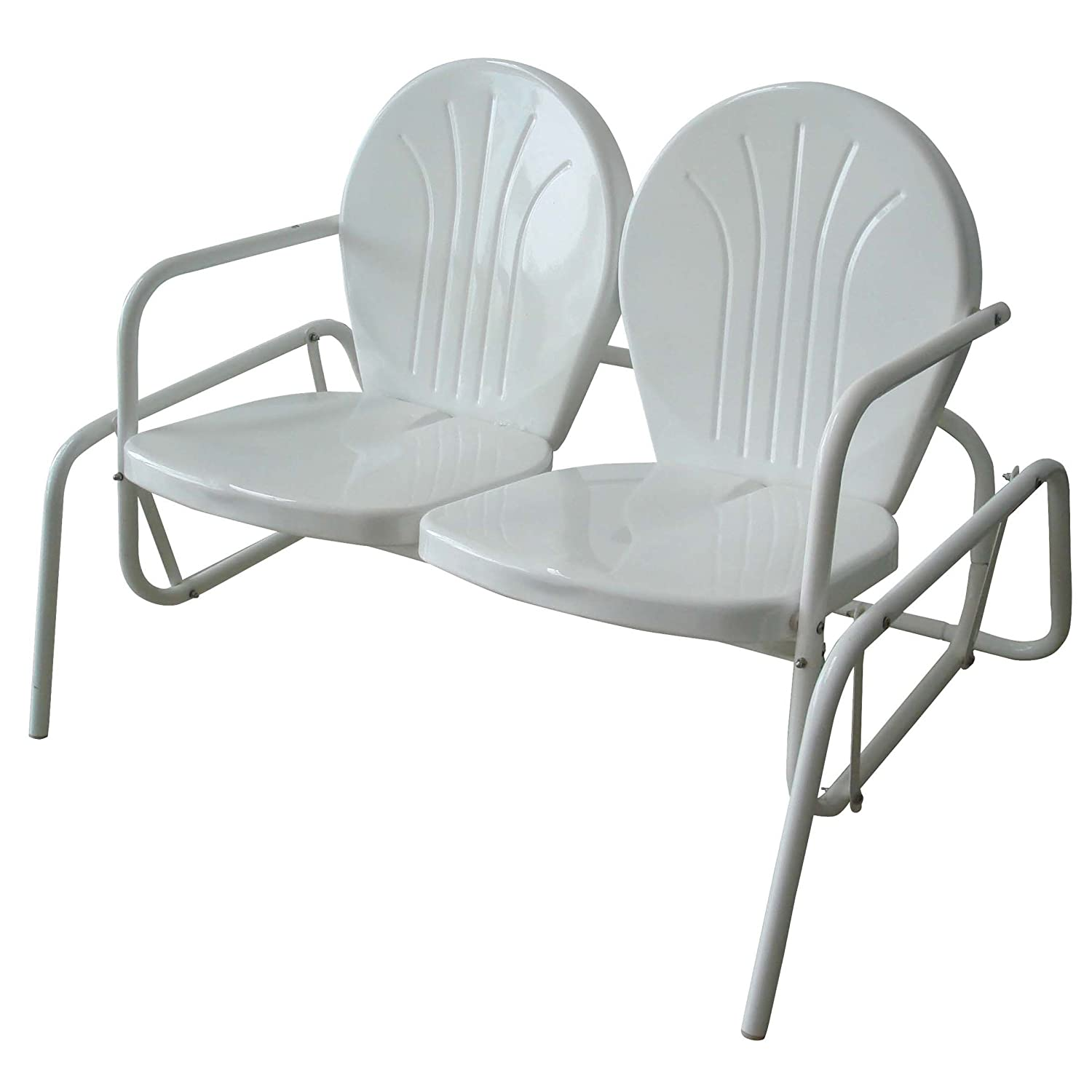 Amazon.com : AmeriHOme Double Seat Glider : Patio Gliders : Garden U0026 Outdoor