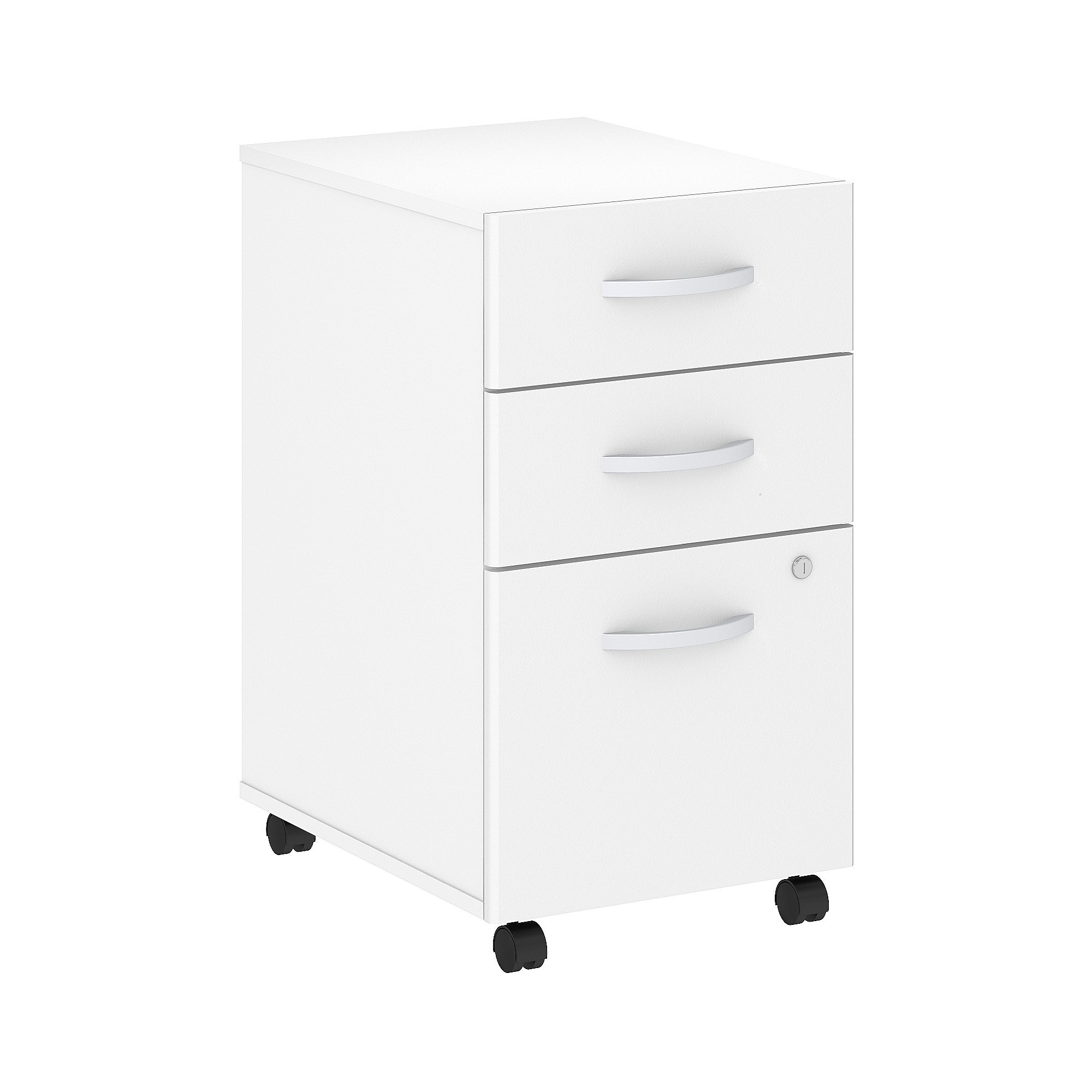 Bush Business Furniture Studio C 3 Drawer Mobile File Cabinet in White