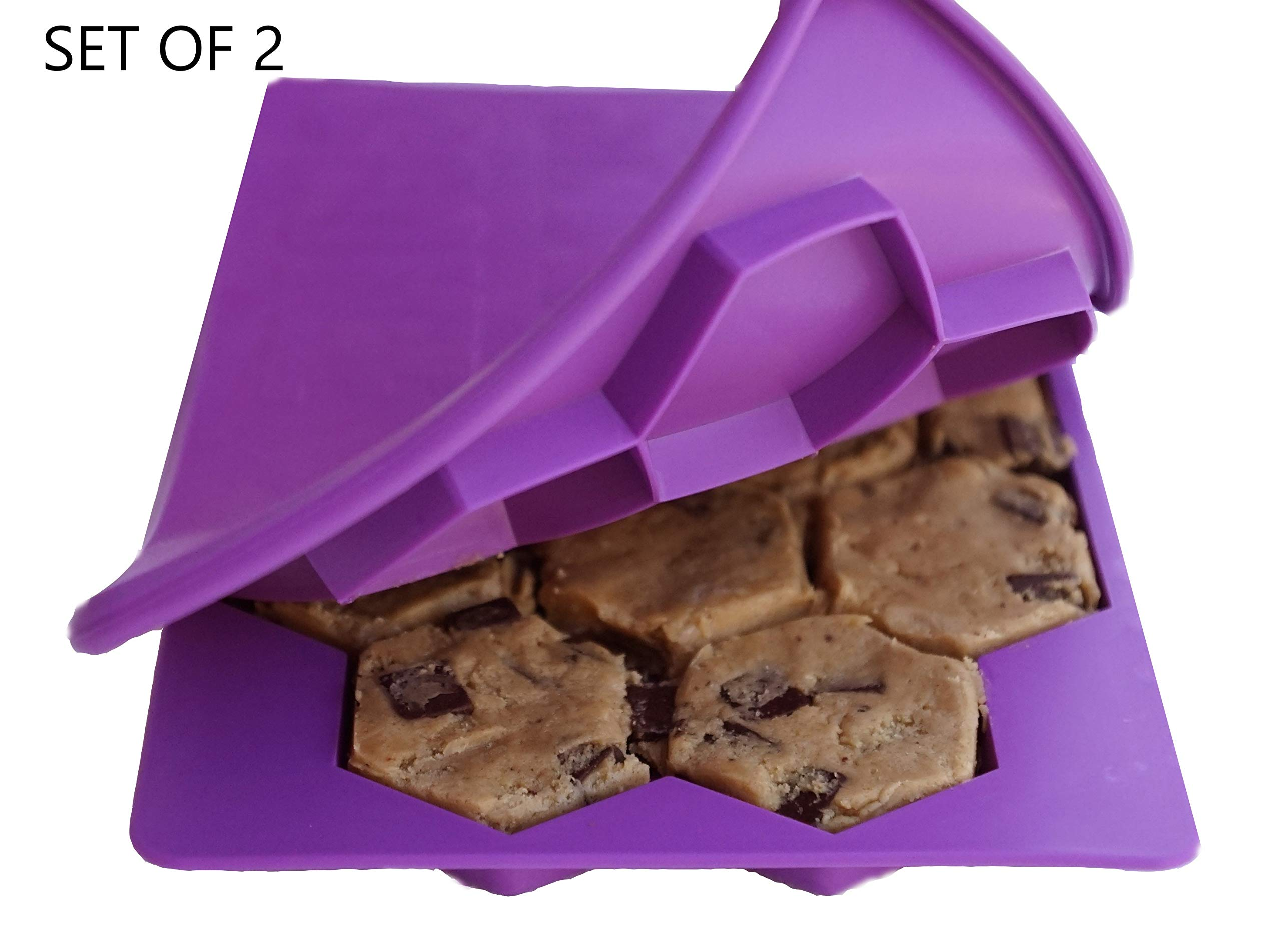 Shape+Store Smart Cookie Set of 2 Innovative 13-in-1 Cookie Makers (Purple)