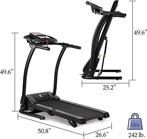ZELUS 1100W Folding Treadmill Electric Motorized Running Machine