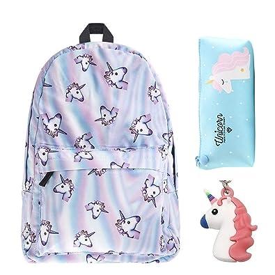 Backpack Travel schoolbags for teenage girls mochila feminina Girls 3Pcs Bagpack Set mochila de unicornio Softback
