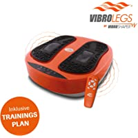 Mediashop VibroLegs | Vibrationsplatte | Kombination aus Vibration und Massage, inkl. Fernbedienung, Trainings-Plan, 3 Programme | Das Original aus dem TV