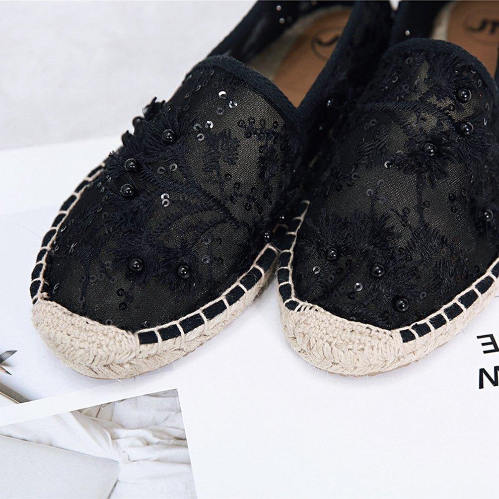 Xinwcang Donna Scarpe Basse On Trasparenti Slip On Basse Flats, Elegante e Comfort Piatto Scarpe Mocassino  Nero 8a2bc4