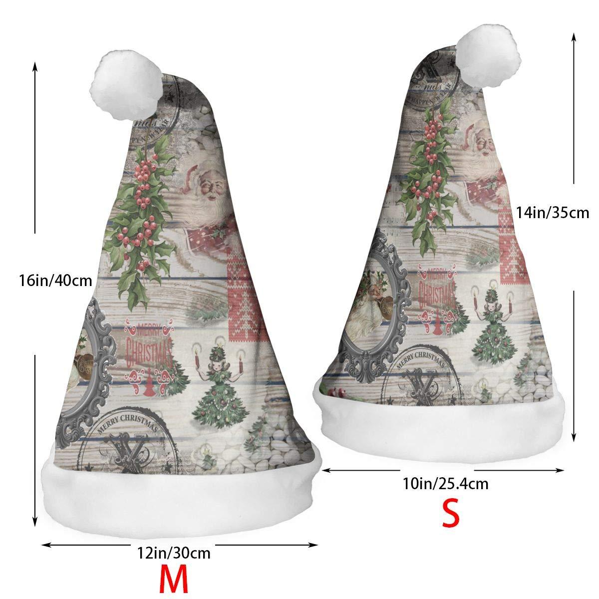 REDCAR 2 Pcs Decor Christmas Hat Christmas Green White Pattern Santa Hats Xmas Cap Cosplay Decorations
