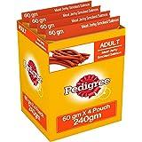 Pedigree Meat Jerky Stix Dog Treats, Smoked Salmon, 60 g Pouch (Pack of 4)