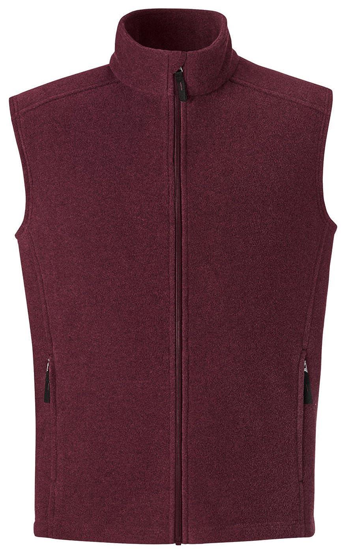 Burgundy Ash City Mens Journey Mens Core 365 Fleece Vest