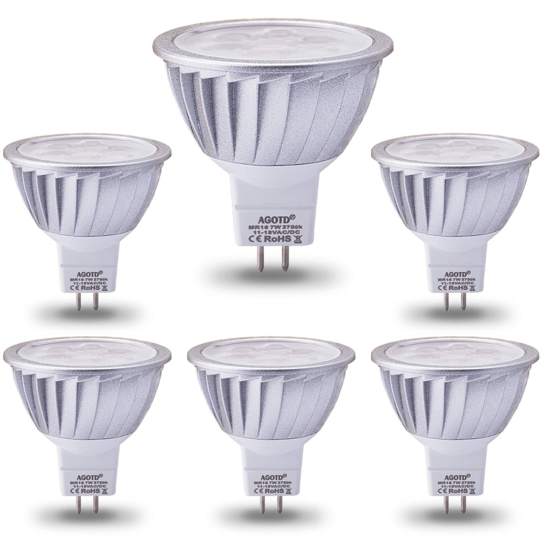 3 aluminium Mr16 Chaud Led Ampoule Gu5 Spot Lampe50x48mm50w Agotd EquivalenteBlanc Smd Lumiere 7w 2700k560lm 12v Halogènes Incandescente yv8ONwPmn0