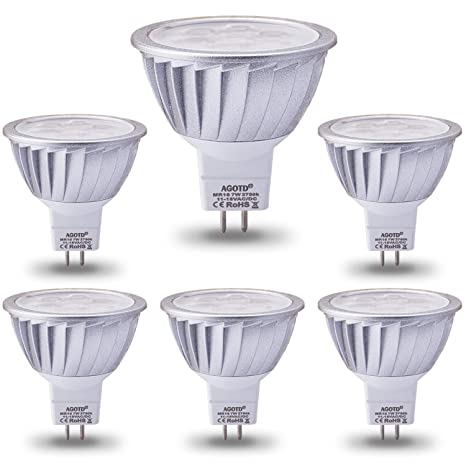3 White Of 6 7w50 Agotd Bulbs Led 12v 2700kPack Watts Halogen warm EquivGu5 Mr16 Base560lm38°deg Lamp QxBeECrdWo