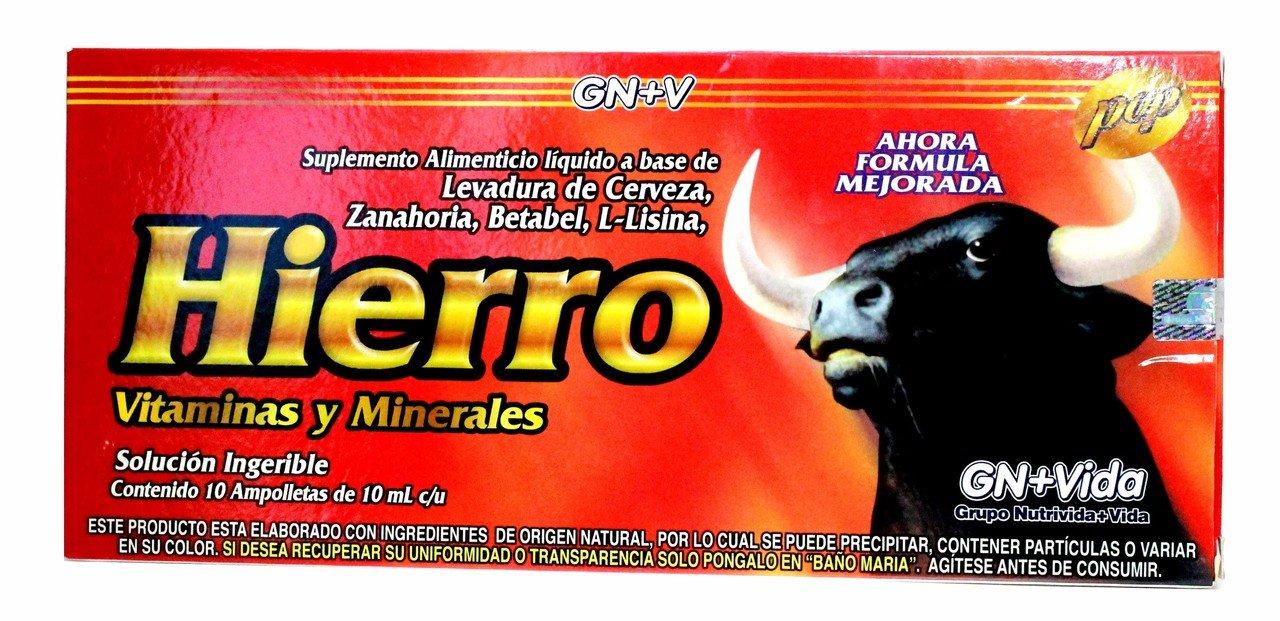 Amazon.com: Iron Reinforzed with Vitamins for Anemia Eliminates Fatigue Increasing Energy Anemiasyn Hierro Vitaminado Ampolletas: Health & Personal Care