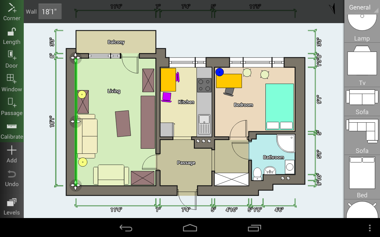 Floor plan creator appstore for android for Floor plan creator unlocked