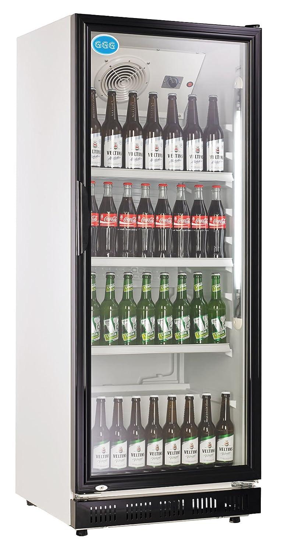 wDesigns Gastro Kühlschrank Flaschenkühlschrank Glastür 310 Liter ...